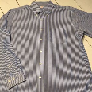 EUC Brooks Brothers blue/white striped dress shirt